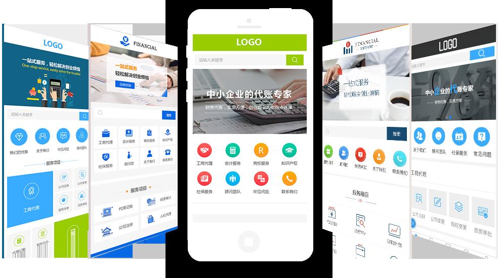 财务精美网站设计